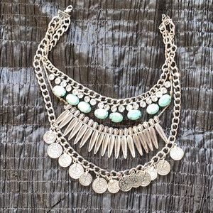Jewelry - 3 layer, statement necklace-Turkish/Afghan/Indian